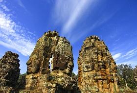 南昌直飞柬埔寨  穿越时光吴哥金边6日游(吴哥窟、大吴哥城、巴戎庙、洞里萨湖船游) 南昌到柬埔寨旅游